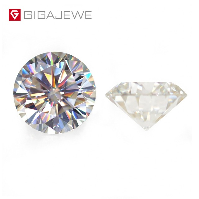 GIGAJEWE Loose Moissanite IJ Light Yellow 6.5mm I.0ct Round GemStone Beads For DIY Fashion Jewelry Making Charms Girlfriend Gift