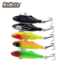 MSMRCO 1Set 5Color 6.3CM 15G Fishing Lures Pack Lead Artificial Soft Bait Fly Fishing Fake Lure Ocean Beach Fishing Lure Kit
