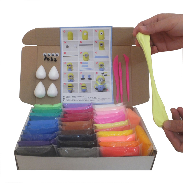 نوعية ممتازة لينة بلايدووغ البوليمر الصلصال بأدوات الوحل الهواء جيدة تأثير خاص لعب الأطفال الهدايا