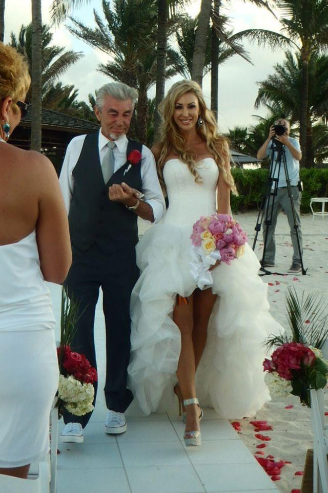 Real Pictures High Low Beach Wedding Dresses Short Front Long Back ...