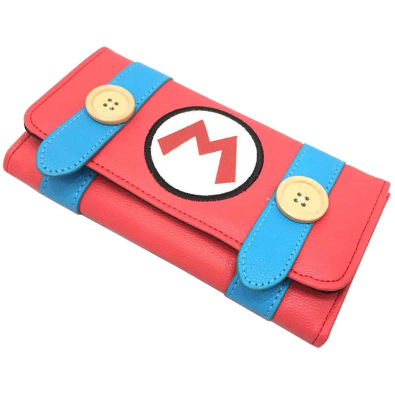 Novelty Design Super Mario Purse PU Leather Long Zipper Wallets For Woman Lady Girl Day Clutch Anime Cartoon Wallet Best Gifts