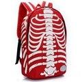 2017 de nylon de la moda esqueleto impresión mochilas para adolescentes hombres viajan back bolso de las mujeres mochilas para niños l816
