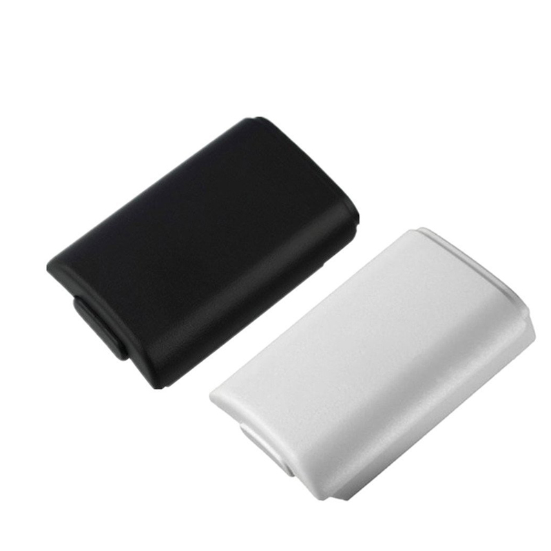 AA Battery Cover Door For Xbox 360 Wireless Controller Black White Color Back Case Shell Pack Kit Fo