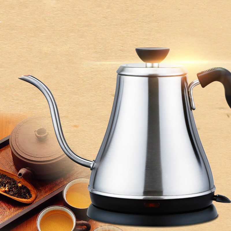 цена на Electric kettle Long mouth 304 stainless steel electric hot water bubble teapot Safety Auto-Off Function