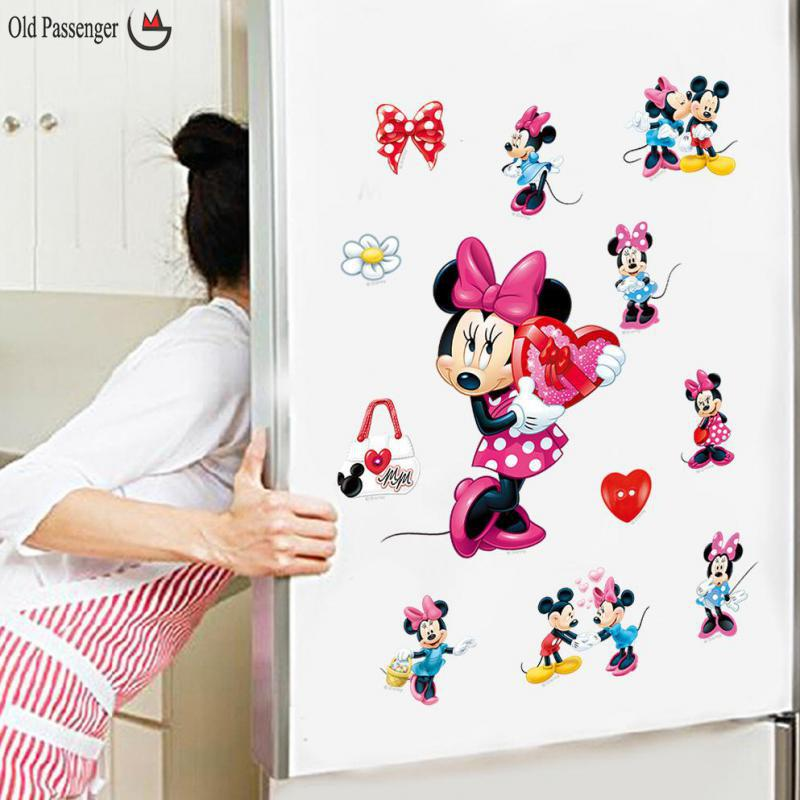 Online Shop Cartoon Mickey Mouse Minnie Mouse Wall Stickers For Kids Rooms  Children Room Decoration Window | Aliexpress Mobile Part 74