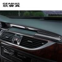 Car styling Center Console Navigation Panel Trim Interior Carbon Fiber Sticker Cover for Audi A6 C7 A7 interior Auto Accessories