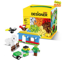 625st byggnadsblock Stad DIY Creative Bricks Leksaker Educational Wange Modell Leksaker för barn Kompatibel lepin teknik