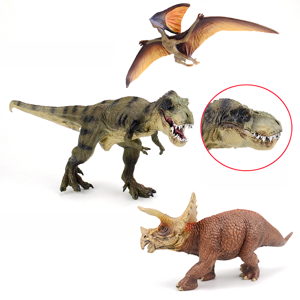 New Jurassic World Park Tyrannosaurus Rex,Triceratops Dinosaurs Plastic Toy Model Action & Toy Figures Collection & Kids Gift oenux prehistoric jurassic tyrannosaurus rex spinosaurus t rex dinossauro world model savage dinosaurs action figure toy for kid