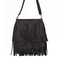 Classical Women Handbags Vintage Scrub Leather Shoulder Bags High Quality For Women Winter Tassels Single Messenger
