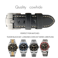 19/20/21/22mm Italy Genuine Leather Watch Strap High Quality Watch Band Universal Belt for Tudor black bay Longines Breitling