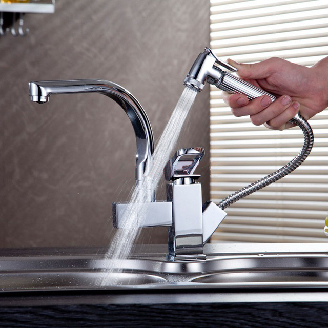 Kitchen Sink Faucets Home Depot Backsplash Tile Single Lever Faucet Pull Out Taps Torneiras Mixers For