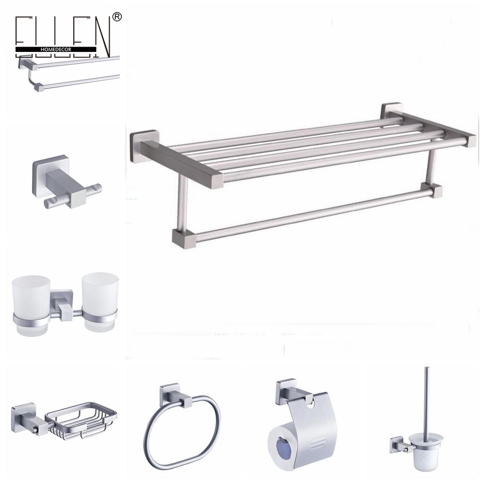 Bathroom Accessories Set Wall Mounted Towel Shelf Towel Holder Toilet Paper Holder Soap Holder