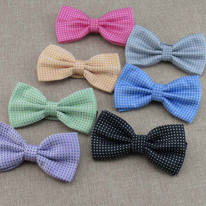 20 piece/lot mens Bowtie/polyester/22 kind colors to choose from/small dot desgin Fashion boy BOWTIE ,Cheap price Free shipping