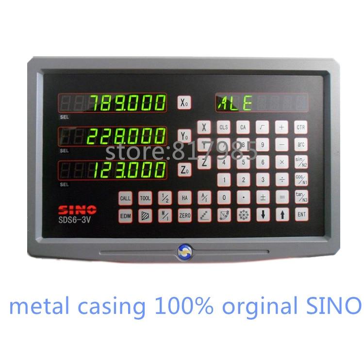 HOT SINO digital readout metal casing DRO SDS6 3V 5micron linear encoder KA300 linear scale