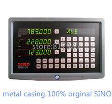 ¡Caliente! SINO carcasa digital de metal, codificador lineal DRO SDS6 3V + 5 micras, escala lineal KA300