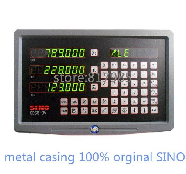 HOT! SINOอ่านข้อมูลดิจิตอลปลอกโลหะDRO SDS6 3V + 5ไมครอนเข้ารหัสเชิงเส้นKA300ขนาดเชิงเส้น