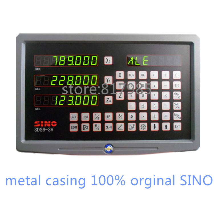 US 369 0 18 OFF HOT SINO Digital Readout Metal Casing DRO SDS6 3V 5micron Linear Encoder KA300 Linear Scale In Level Measuring Instruments From