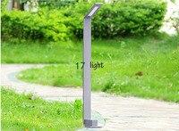 LED Aluminium Rasen lampe für gaden/park high power 5 Watt wasserdicht IP65 grau farbe lampe lampe
