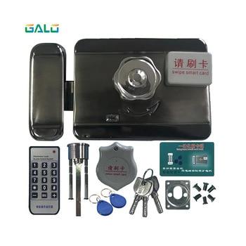 GALO 20 TAGS Door & gate lock castle Access Control Electronic integrated RFID Door Rim lock RFID reader for intercom