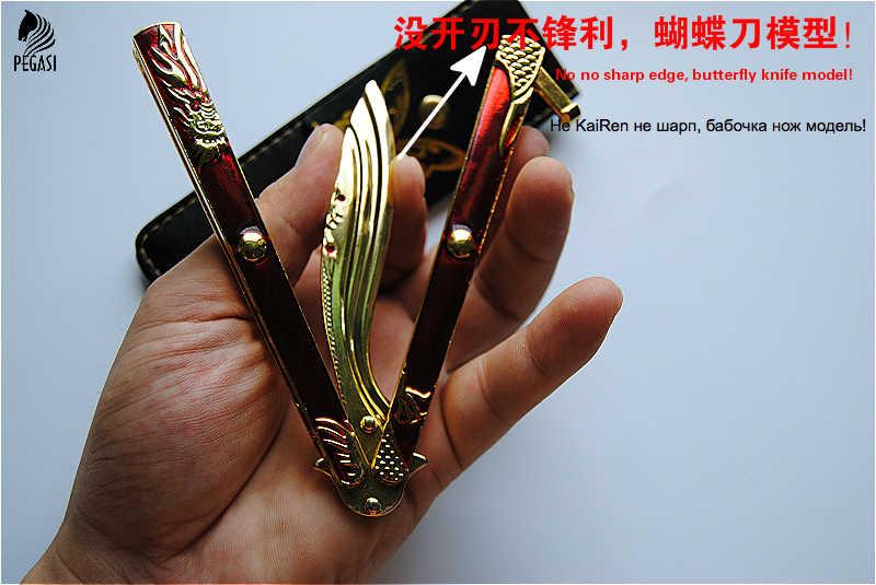 Нож-бабочка PEGASI из цинкового сплава, не острый нож, подходит для подарка и коллекции, Бесплатная доставка на 100%