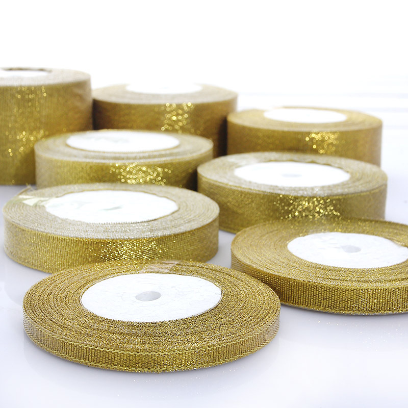 1 шт. серебряный золотой лентой для упаковки подарка ремень Свадебная вечеринка Рождественская приукрашивание лентой DA