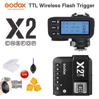 Godox X2T-C X2T-N X2T-S X2T-F X2T-O X2T-P TTL 1/8000s HSS Wireless Flash Trigger Transmitter for Canon Nikon Sony Fuji Olympus