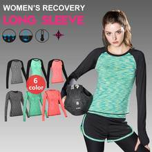 Women Long Tee QUICK-DRY Brand Tops Exercise Runs Yogaing Clothing T-Shirt Workout Vest Fitness Gymming Sporting Shirts Clothes