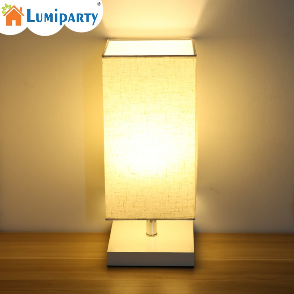 LumiParty Table Lamp Bedside Desk Lamp With Fabric Shade and Solid Wood for Bedroom Relax Lighting For Bedroom Bedside Desk Lamp bedroom table lamp modern simple wood stand table lamp with fabric lamp shade desk lamp study lamparas kumastb