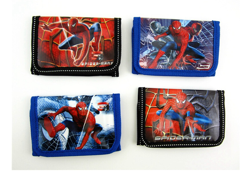 Fashion Cartoon Spider Man Coin Purse Children Zip Change Purse Wallet Movie Kids Girl Women Pouch Bolsa For Gift m215 cute cartoon pets akita dog siberian husky personality plush coin purse wallet girl women student gift wholesale