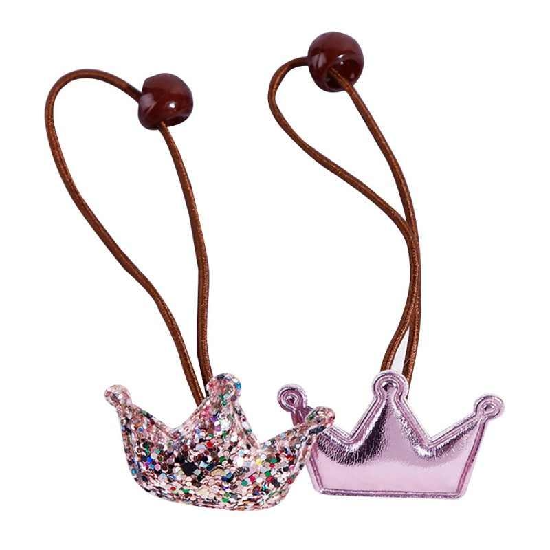 2Pc Cute Girls Hair Accessories Hair Band Star Heart Elastic Headbands Felt Holiday Party Hair Band Headwear For Children