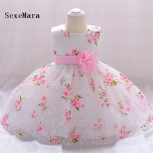 Real Picture Baby Girls Christening Dresses for 3 6 12 18 24 Month 1 2 Year  Birthday Dress Baby Christmas Dress Girls Gown a9b62cb1a740