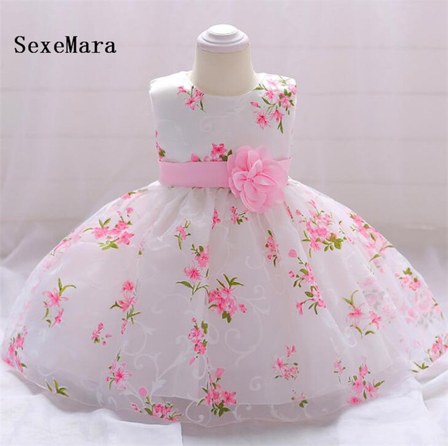 44ef2c8a1e819 Real Picture Baby Girls Christening Dresses for 3 6 12 18 24 Month 1 2 Year  Birthday Dress Baby Christmas Dress Girls Gown