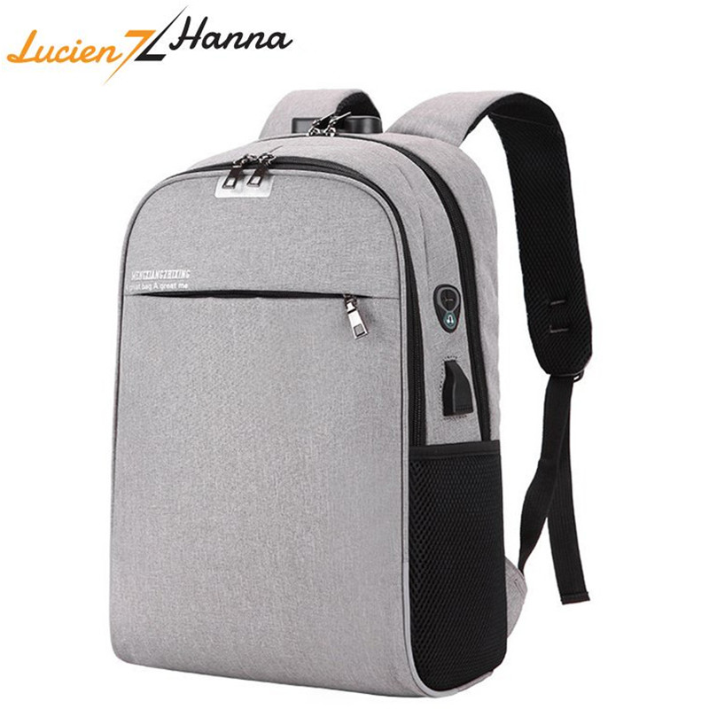 Waterproof USB Charging Laptop Backpack With TSA Lock Anti-theft Men Women Travel Backpacks Unisex School Bags For Teenage Girls