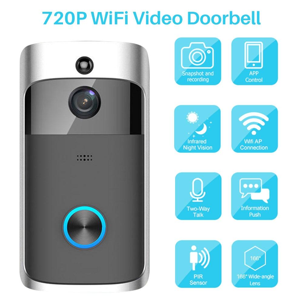 Smart WiFi Video Doorbell Camera IP Video Intercom Door Bell Night Vision Remote Control Recording Smart Home Security Monitor