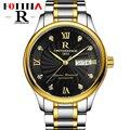 Fotina R Relógio Marca de Topo Homens de Negócio do Ouro Preto Relógios Homens Completa de Aço Inoxidável Data Semana Sports relógio de Pulso Relogio masculino
