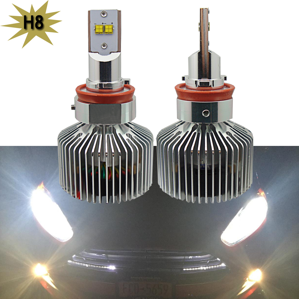 2x H4 H7 H13 H11 9005 9006 Lumileds LED Headlight 90W 9000LM H10 9145 Car LED Headlights Bulb Head Lamp Fog Light White 6000K стоимость