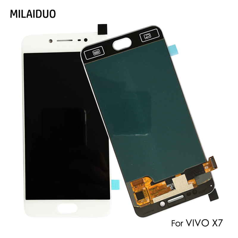 Original/OEM AMOLED For VIVO X7 LCD Display OLED Touch Screen Digitizer Full Assembly Replacement 5.2 inch White 100% TestedOriginal/OEM AMOLED For VIVO X7 LCD Display OLED Touch Screen Digitizer Full Assembly Replacement 5.2 inch White 100% Tested