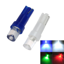 300PCS Warning Indicator Lights T5 LED Bulbs with Wedge Base for Car Dashboards Gauge bulbs White Blue Amber Green Red Mix Color