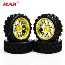 4Pcs/Set 1:10 Rubber Rally Tires and Wheel Rim with 6mm Offset 12mm Hex fit Racing Off Road Car PP0487 Accessories