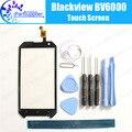 Blackview bv6000 digitador da tela de toque 100% de garantia original painel de digitador de vidro toque substituição para blackview bv6000