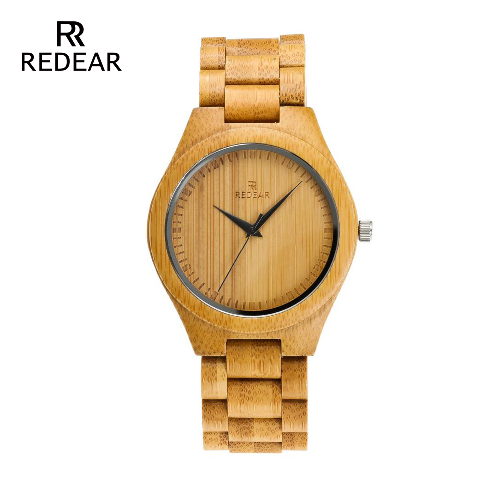 REDEAR Bamboo Lover's Watches Timepieces Wood Band Quartz Polshorloge - Dameshorloges - Foto 2