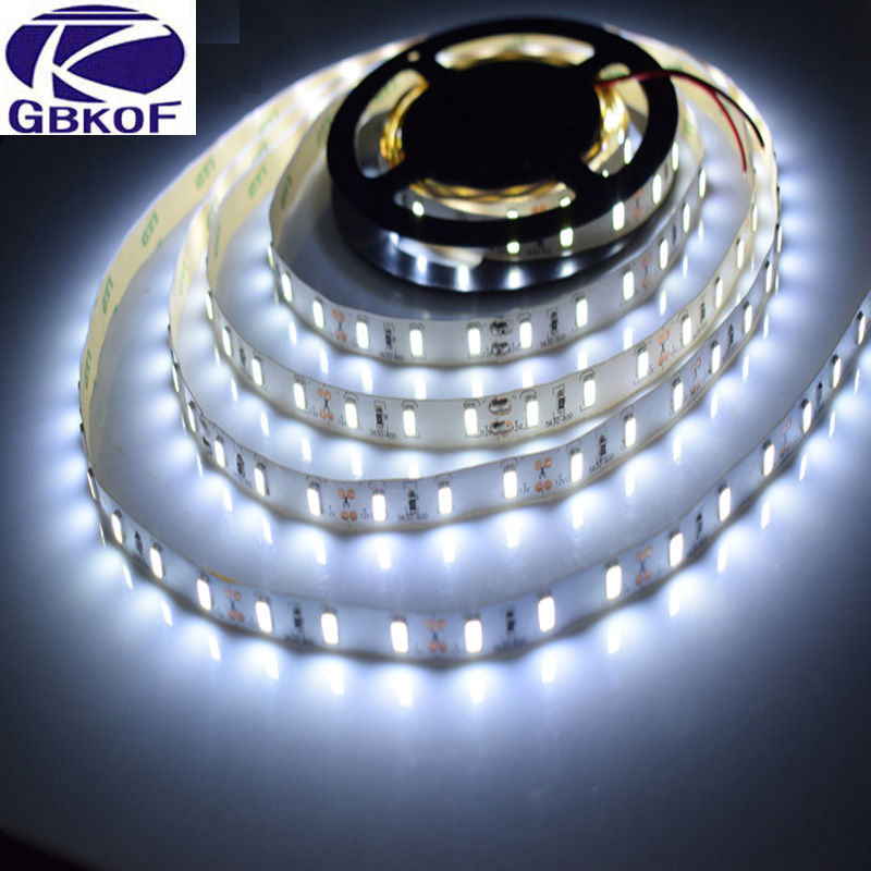 5M/Roll White / Warm white 300 LED Strip light String Ribbon 5630 SMD lamp Tape More Bright Than 2835 3528 5050 For Decorative