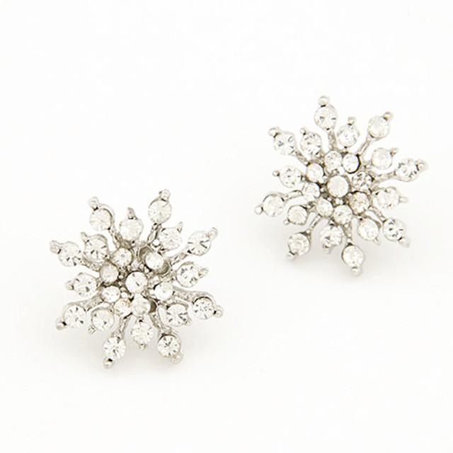Crystal Snow Flake Earrings