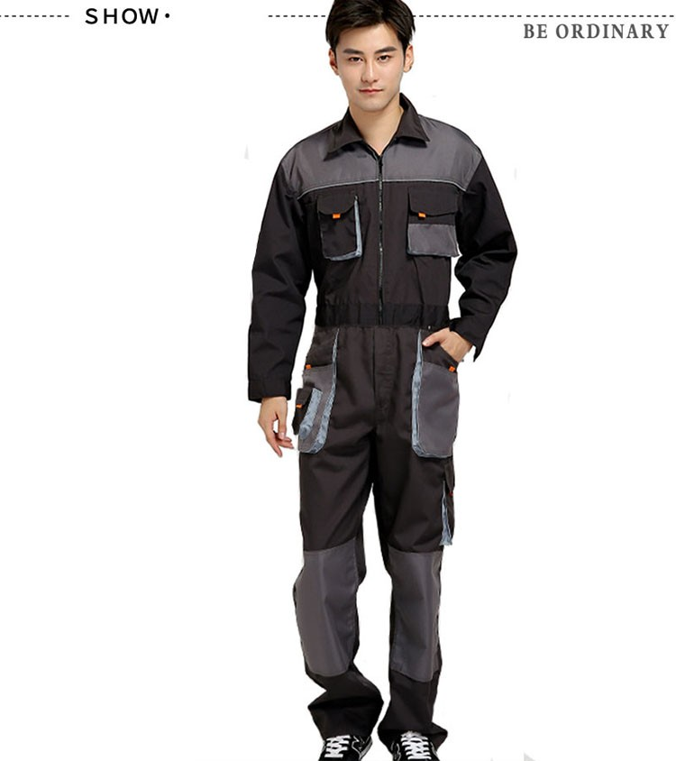 CCGK bib overalls men work coveralls protective repairman strap jumpsuits pants working uniforms plus size sleeveless coverall (5)
