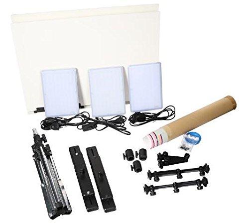 DHL Nanguang CN T96 3 light Kit 5600K 96PCS LED Light Lamp 18W + Mini Shooting Bracket Stand Set Photographic Lighting Kit