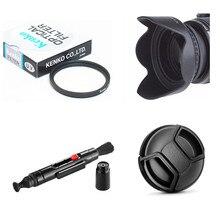 Limitx 58mm uv 필터 + 렌즈 후드 + 렌즈 캡 + 소니 사이버 샷 dsc f828 h1 h2 h5 디지털 카메라 용 클리닝 펜