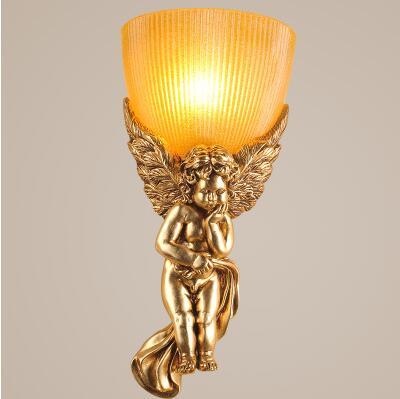 Wall Sconce,Little Angel Resin LED Wall Lamp Light For Home Lighting Arandelas Lampara Pared ...
