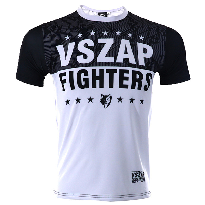 Kind-Hearted Vszap Quick Dry Boxing Jerseys Fight Mma T-shirt Gym Shorts Boxing Fitness Sport Muay Thai Breathable T Shirt Men Kickboxing Good For Antipyretic And Throat Soother Sports & Entertainment Boxing