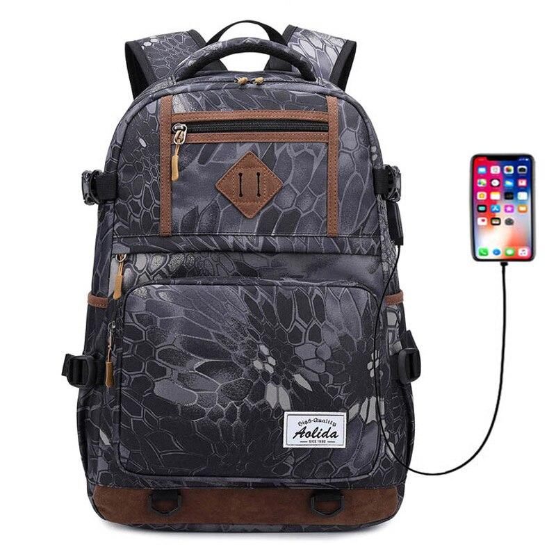 Mode hommes sac à dos vintage toile sac à dos usb sac d'école sacs de voyage pour hommes grande capacité voyage 15.6 pouces sacoche pour ordinateur portable