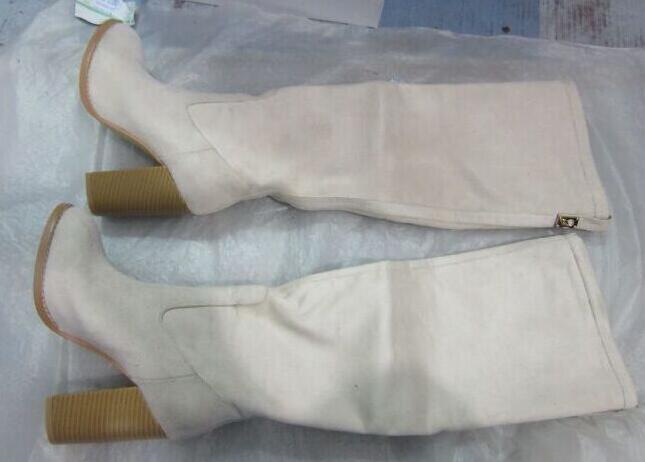 Botas Mujer Cremallera De Partido Damas Beige Sestito Redonda Rodilla Punta Larga 2018 Para Tacones Nuevo Chunky Moda Zapatos xS5wxqaY